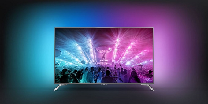televizor led de la philips, 4k, de 123 cm