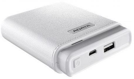 baterie portabila de la adata, de 10000 mah, 235 g