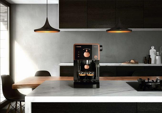 espressor manual saeco, presiune 15 bari, cu cafea si capsule