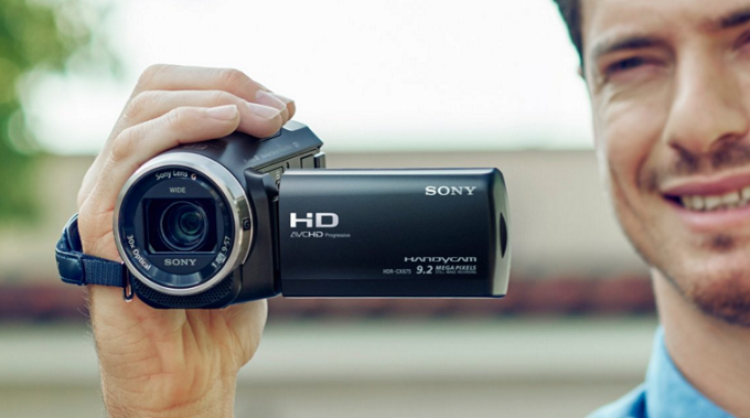 camera video de la sony, full hd, cu flash