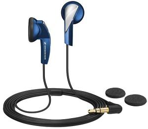 casti audio de tip in ear de la sennheiser, albastre