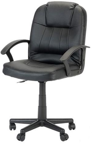 scaun de birou, piele ecologica, negru, greutate maxima 90 kg