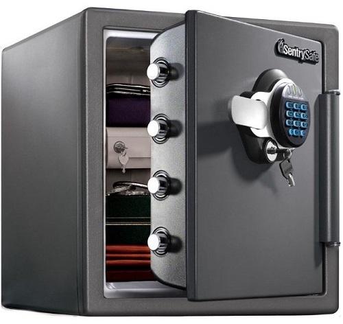 seif antifoc Rottner, cu cifru electronic si cheie, pentru podea si mobilier