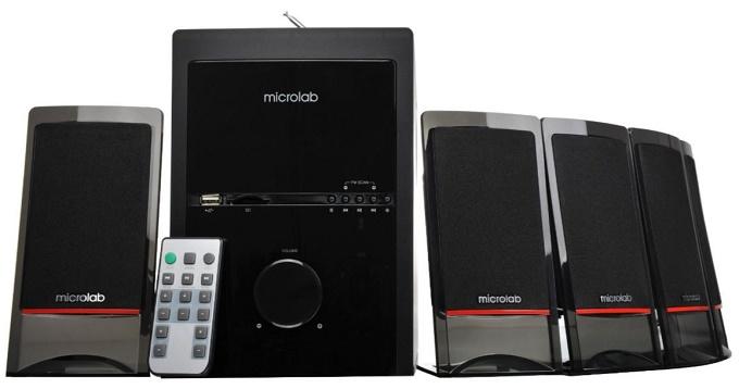 sistem audio 5.1 de la microlab, cu putere de 60.5 w