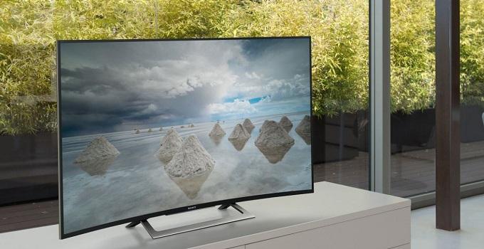 televizor cu ecran curbat de la sony, cu rezolutie 4k, smart