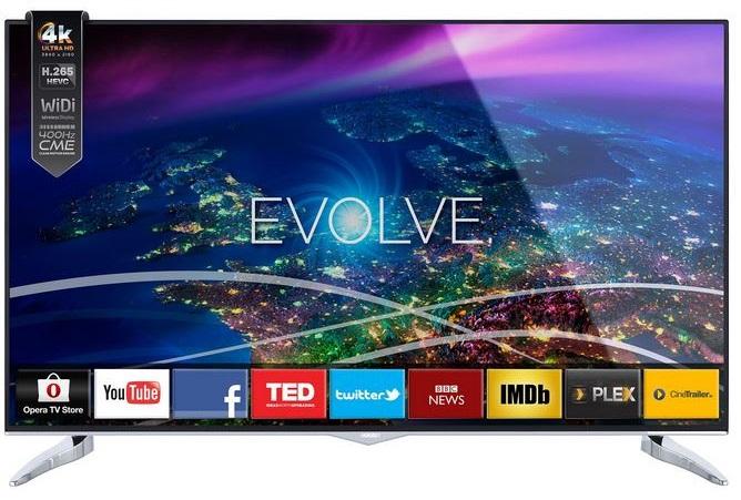televizor led de la horizon, 121 cm, cu rezolutie 4k