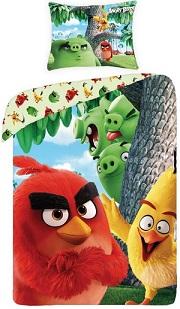 Lenjerie de pat Angry Birds, din bumbac