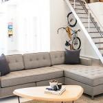 canapea moderna cu 3 locuri, umpluta cu spuma poliuretanica