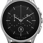 ceas smart vector, curea din piele neagra