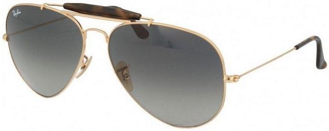 ochelari ray ban din metal, stil aviator