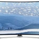 televizor curbat smart samsung ultra hd, negru