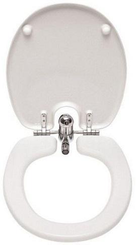 capac wc cu bideu, din ceramica, alb