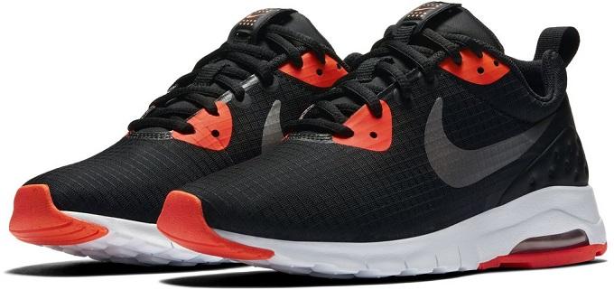 pantofi sport nike air max pentru femei, negru cu portocaliu