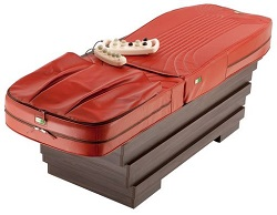 pat de masaj automatizat rosu, de la casa jad