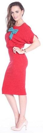 rochie tricotata midi, stil casual, Roserry